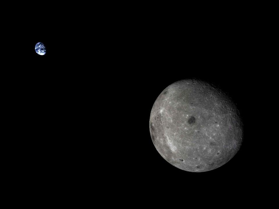 Bulan dan Bumi dari Chang'e 5-T1