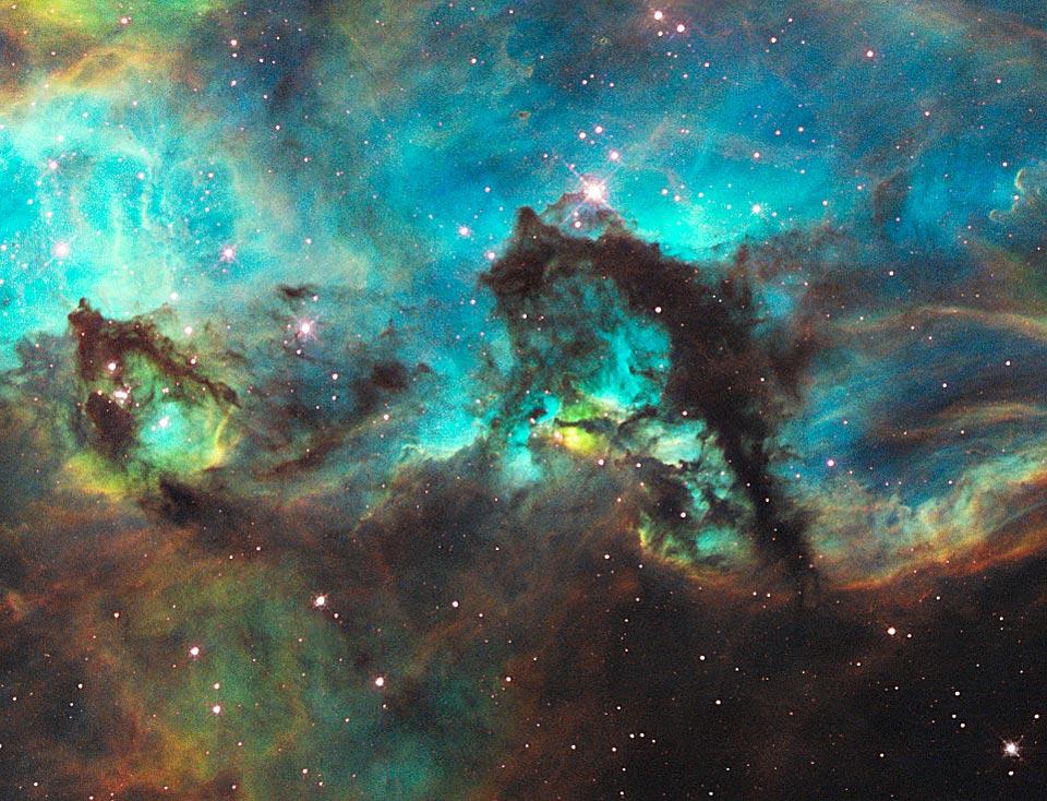 El caballito de mar del Gran Nube de Magallanes