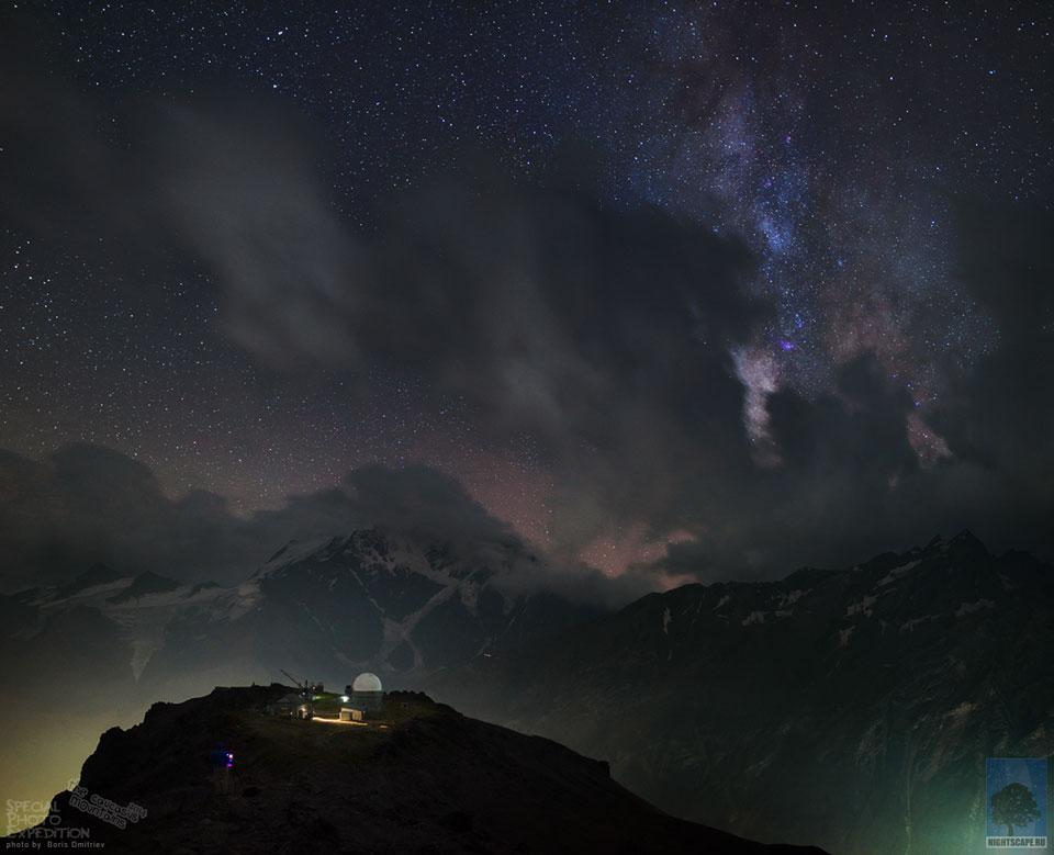 Observatorio, montañas, Universo