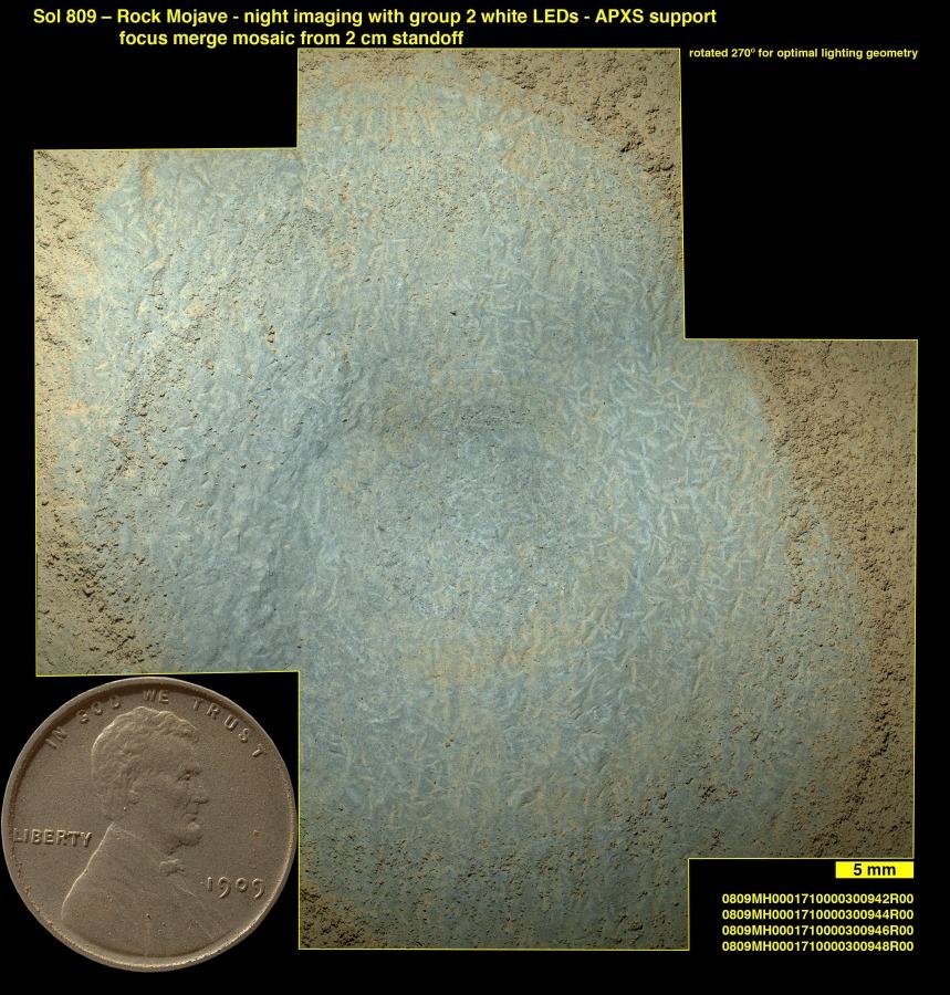 Cristales en Marte