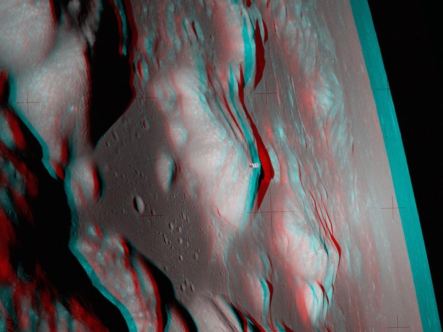 Apolo 17: una visión estéreo desde una órbita lunar
