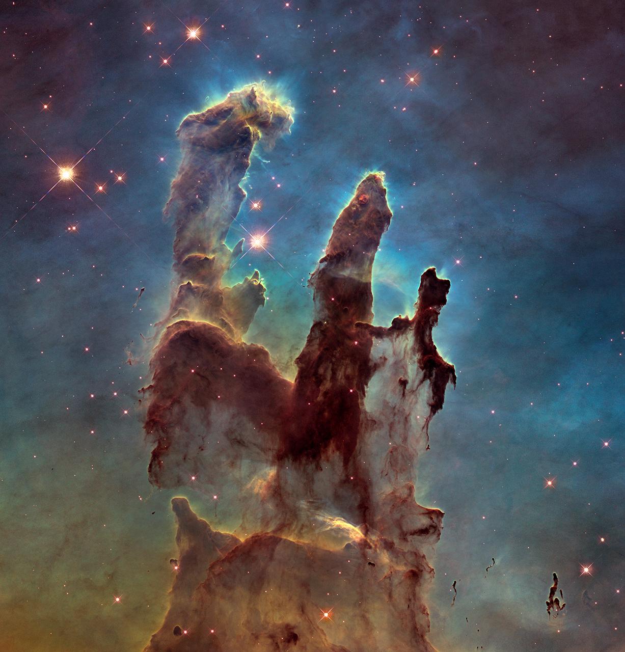 APOD: 2015 January 7 - Hubble 25th Anniversary: Pillars of ...