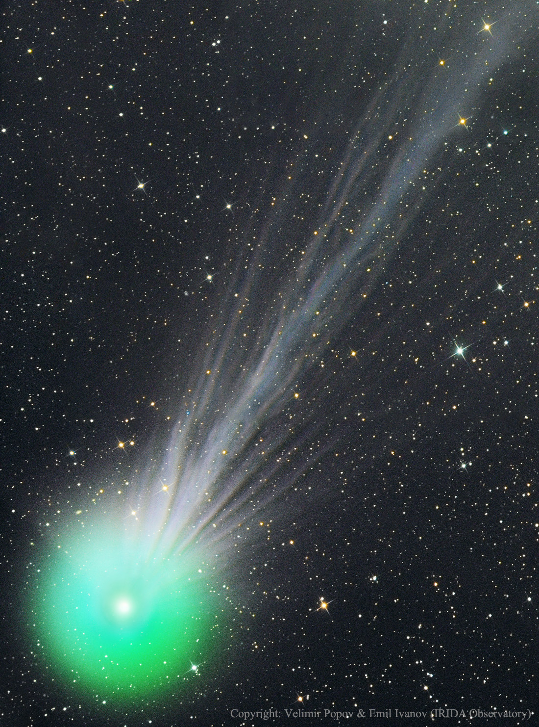 Apod 2015 January 21 The Complex Ion Tail Of Comet Lovejoy