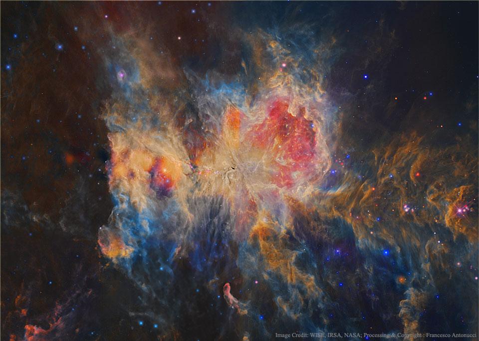 Orion en infrarrojo desde el WISE