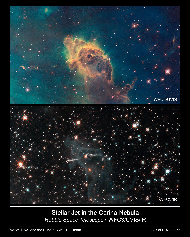 APOD: 2015 February 8 - Carina Nebula Dust Pillar