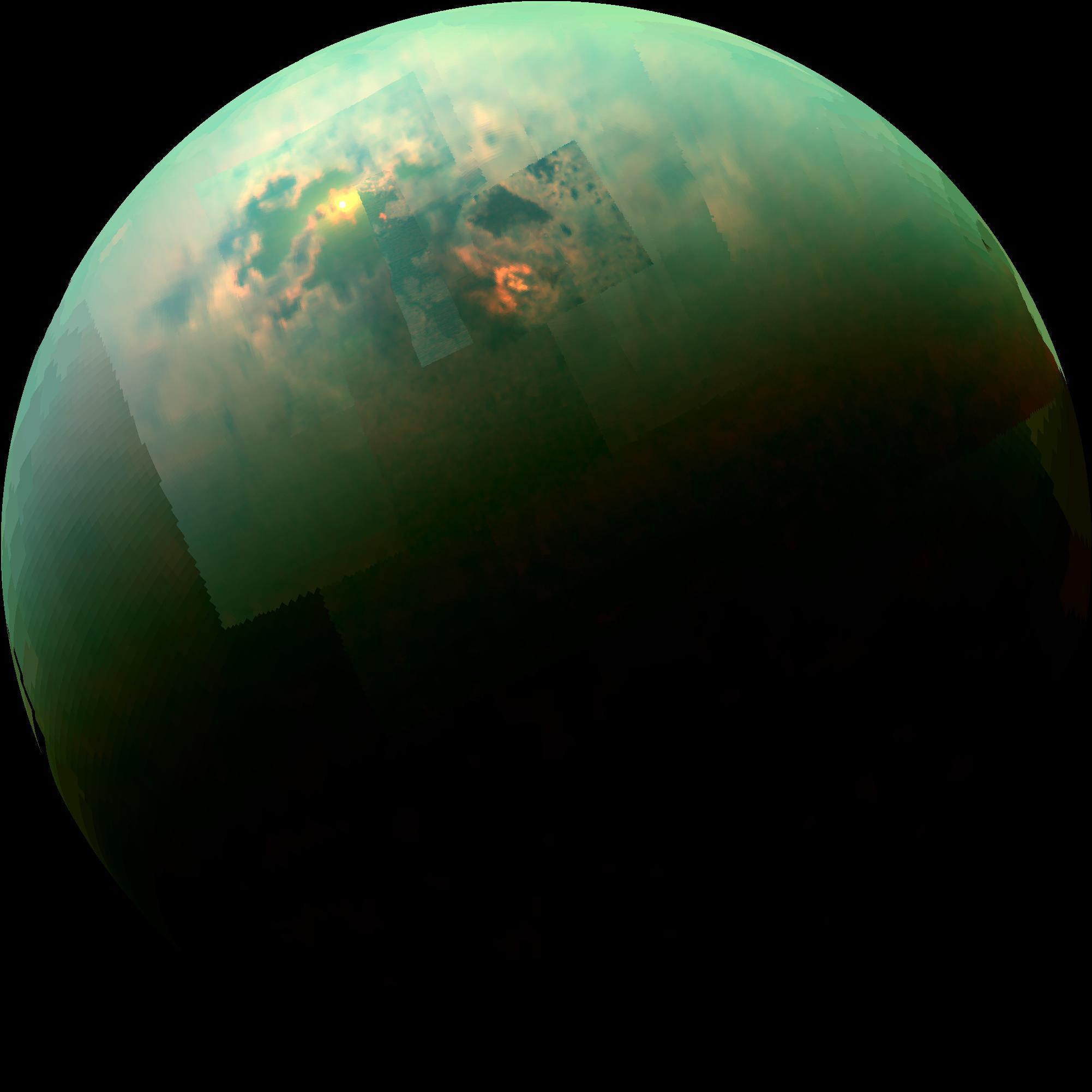 2015 February 2 - Titan Seas Reflect Sunlight