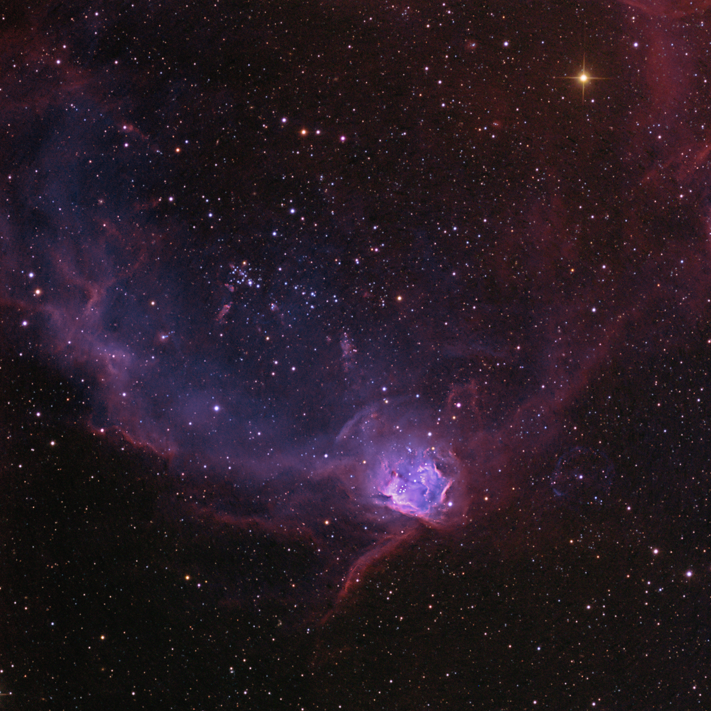 Apod 2015 march 7 ngc 602 in the flying lizard nebula for Flying spaces