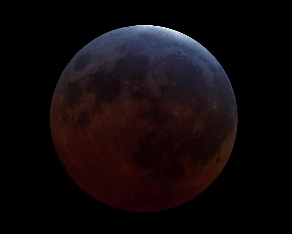 Luna llena en la sombra de la Tierra