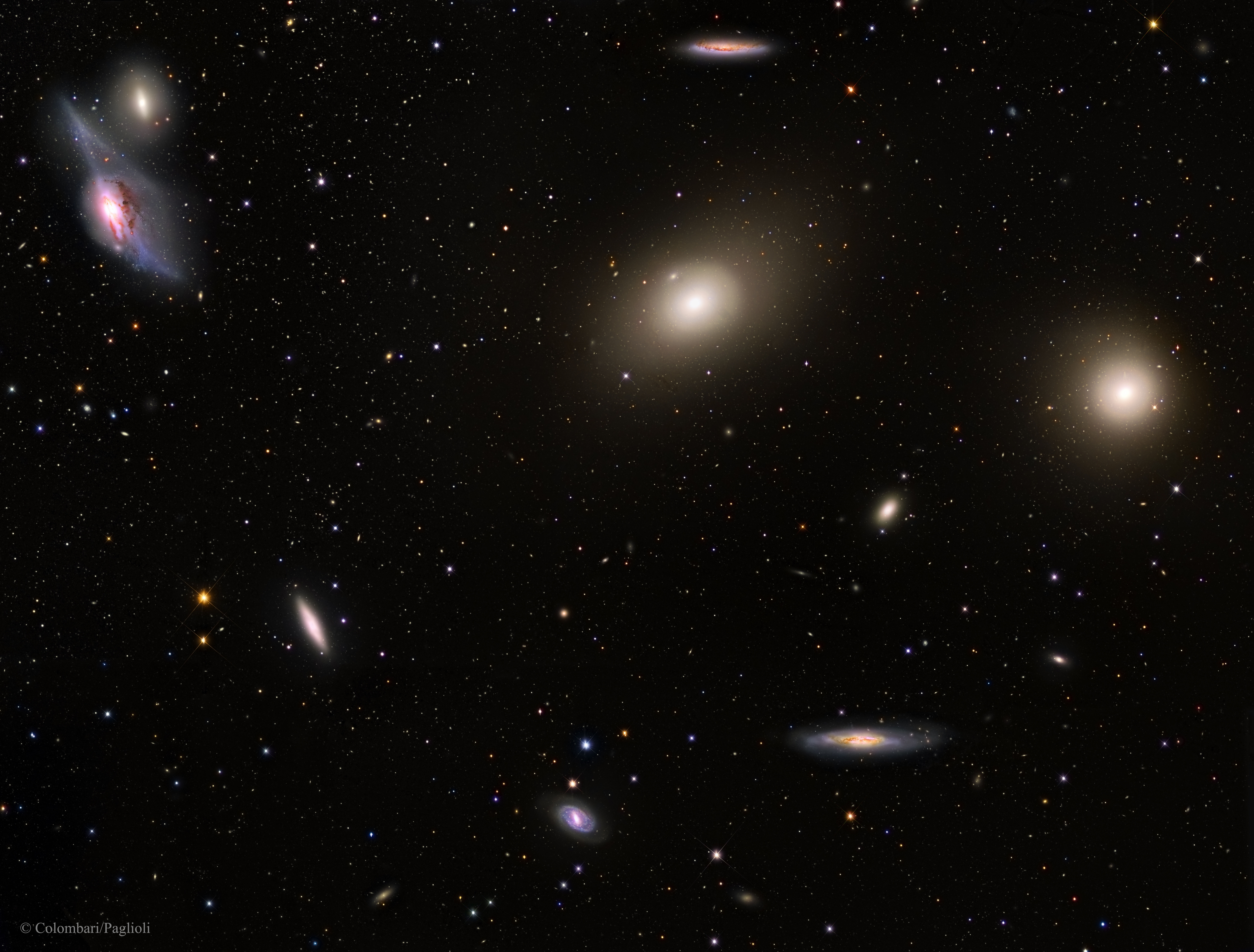 APOD: 2015 April 7 - In the Heart of the Virgo Cluster