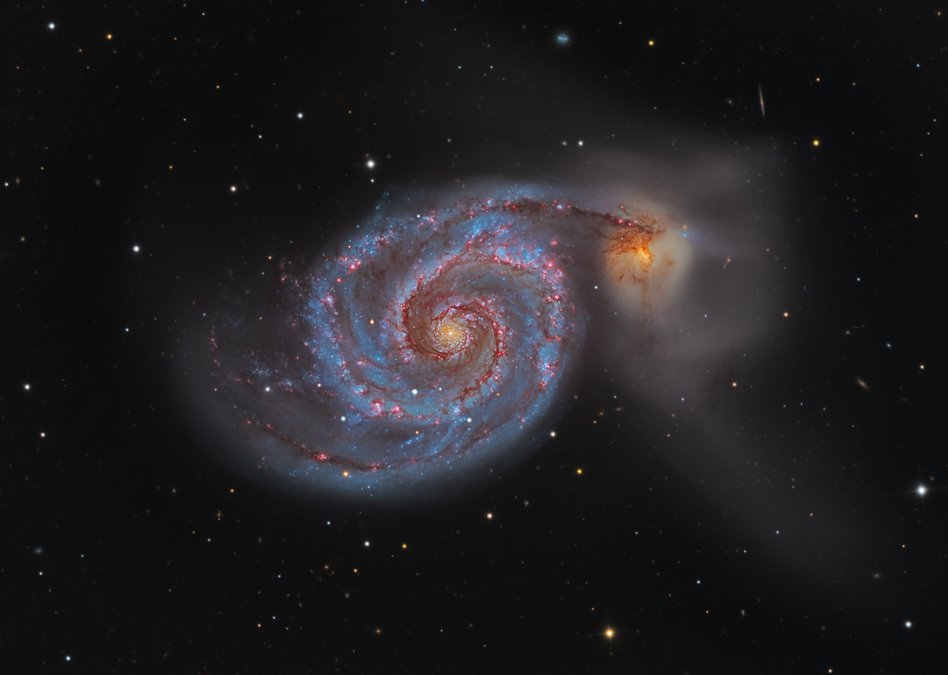 whirlpool galaxy hubble nasa center picture - photo #18