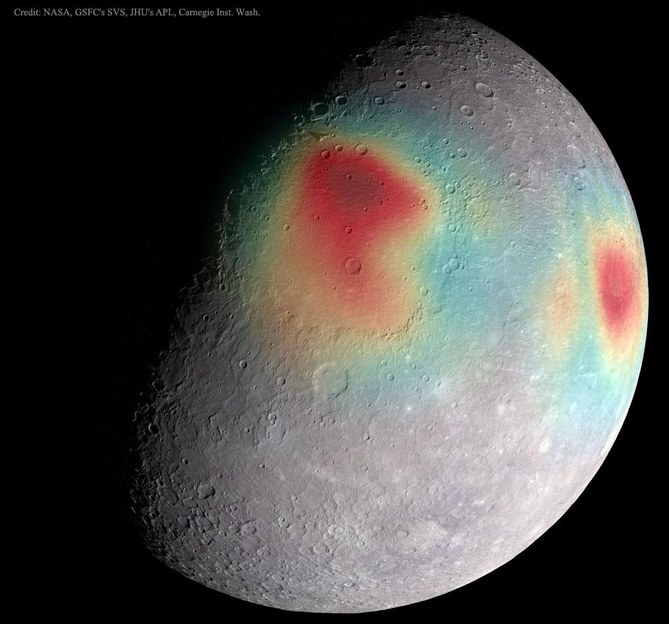 005 - APOD - MAJ 2015. MercuryGravity_MESSENGER_960