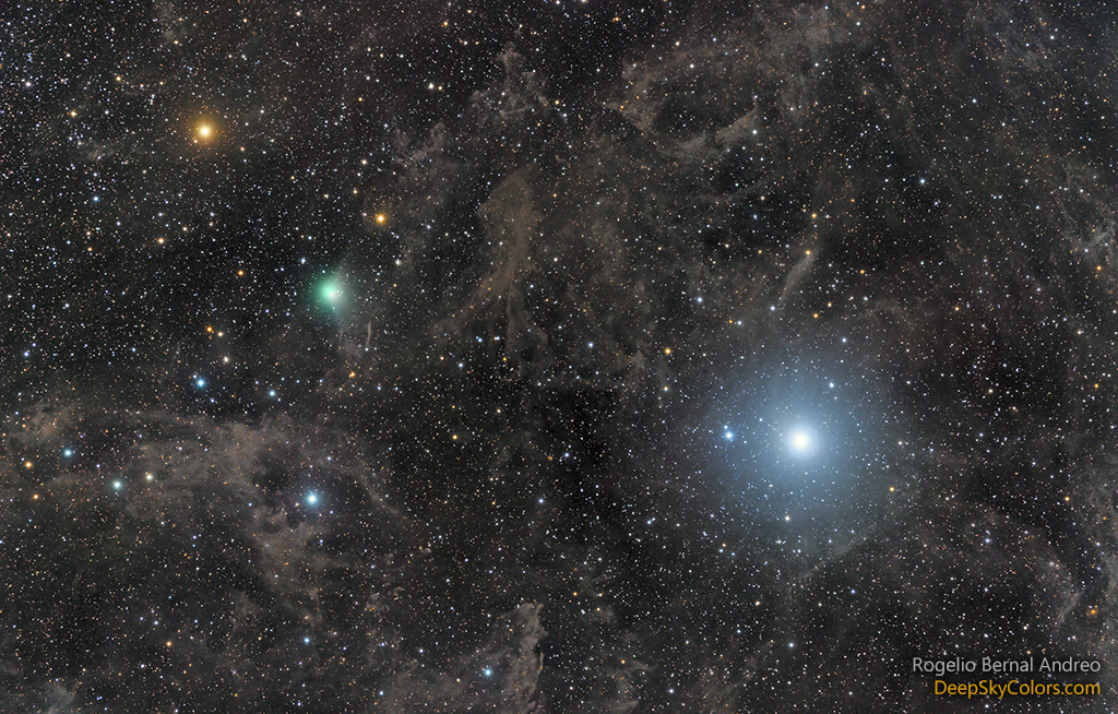 Polaris y el cometa Lovejoy