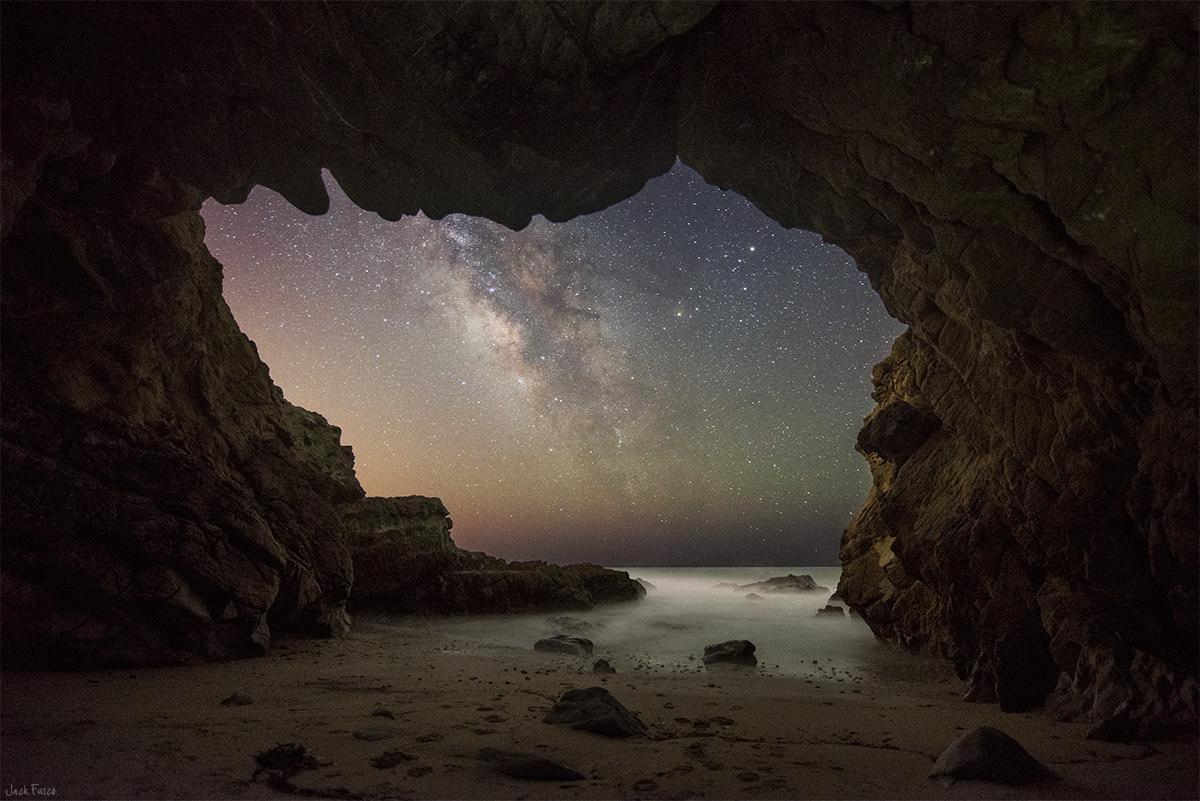 Apod 2015 July 7 The Milky Way From A Malibu Sea Cave