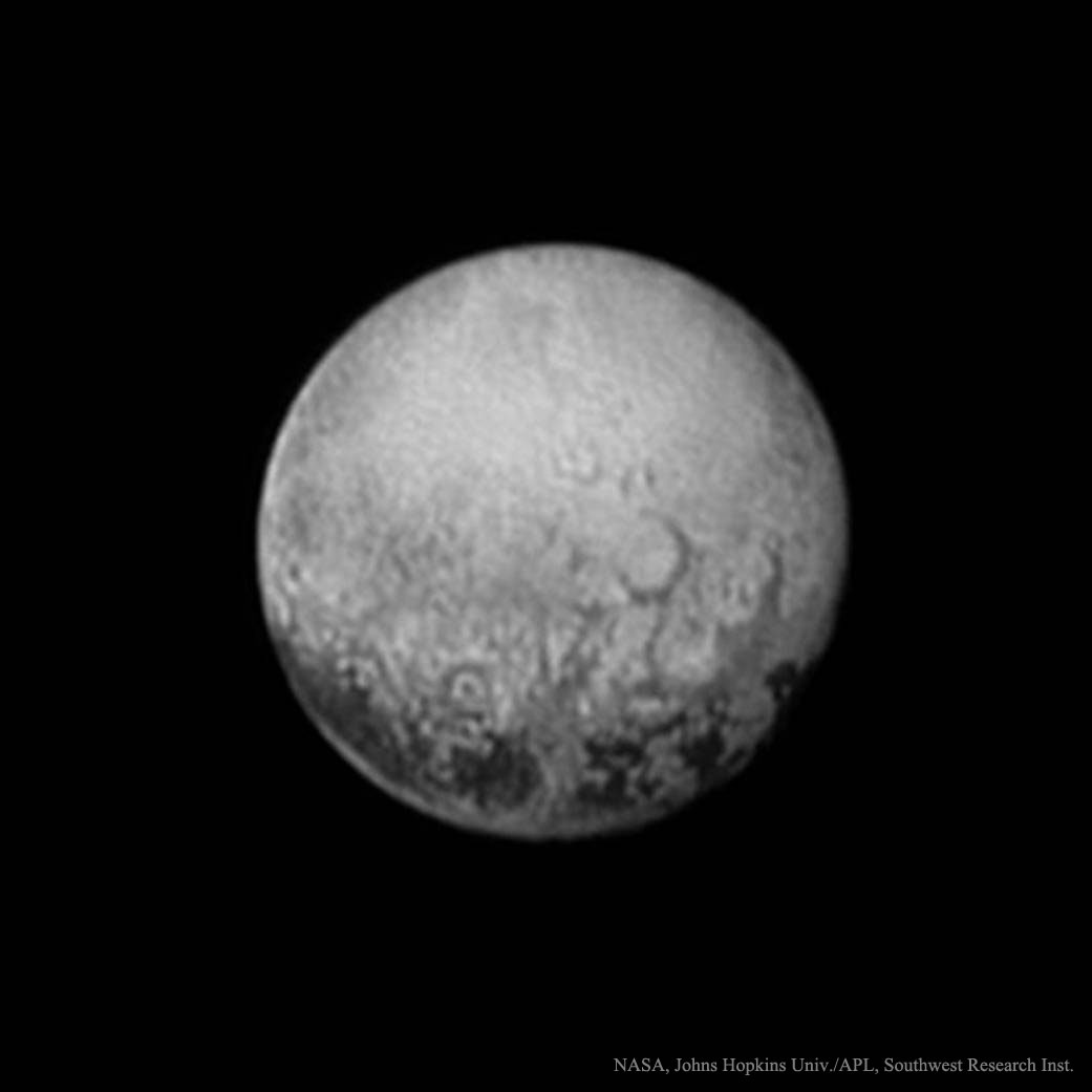 APOD: 2015 July 13 - Last Look at Pluto's Charon Side
