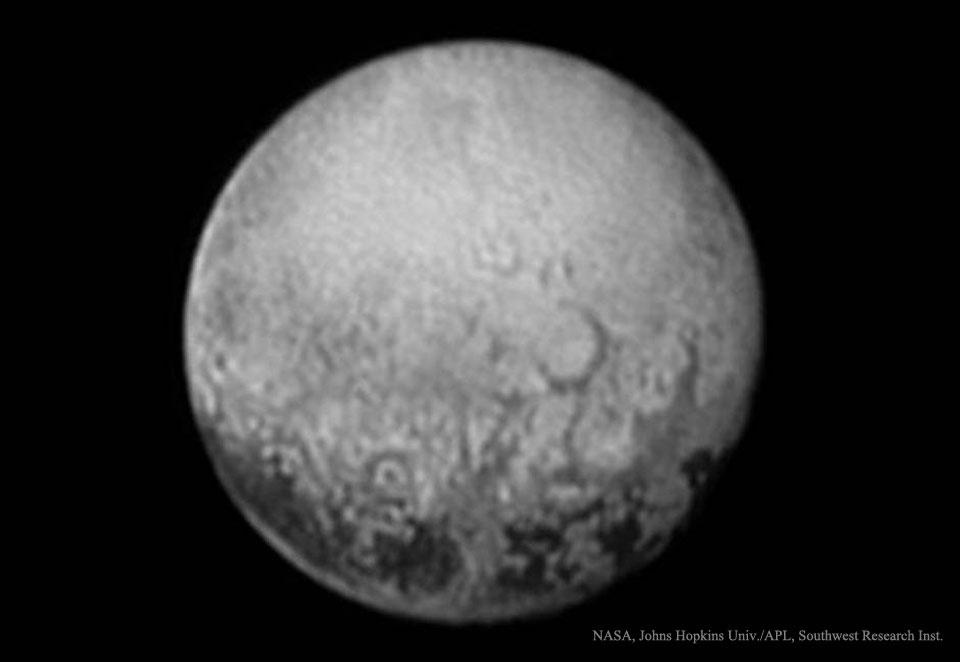 Última mirada al lado de Plutón encarado a Caronte