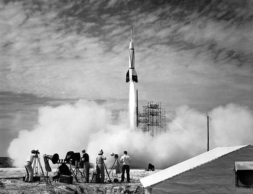 El primer lanzamiento de un cohete desde Cabo Cañaveral