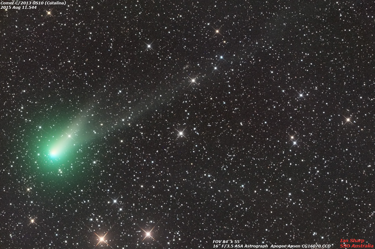 Comet Catalina and Geminid meteor shower - December sky ...