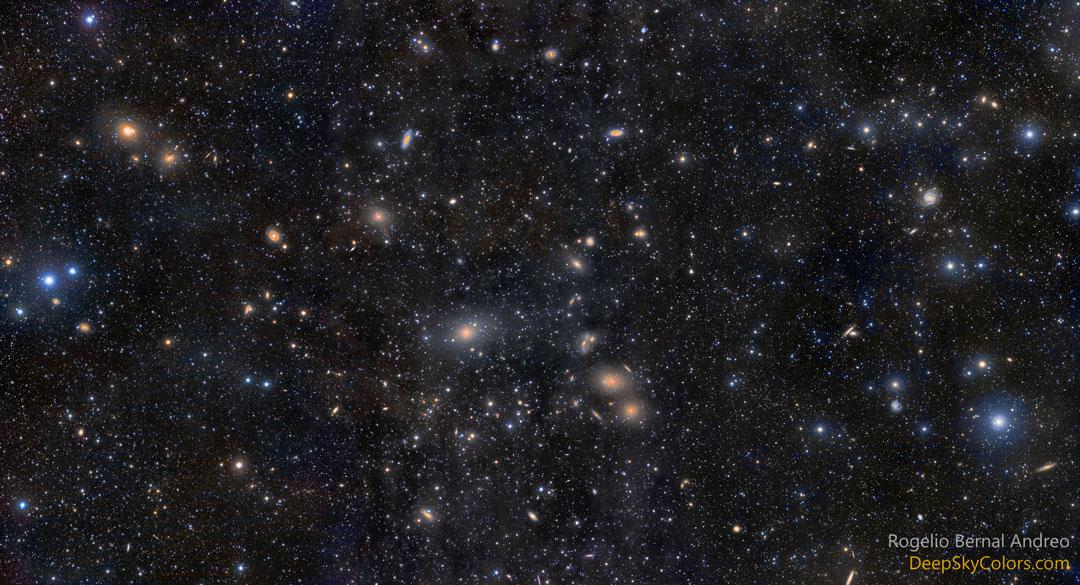 Kupa galaxií v Panně