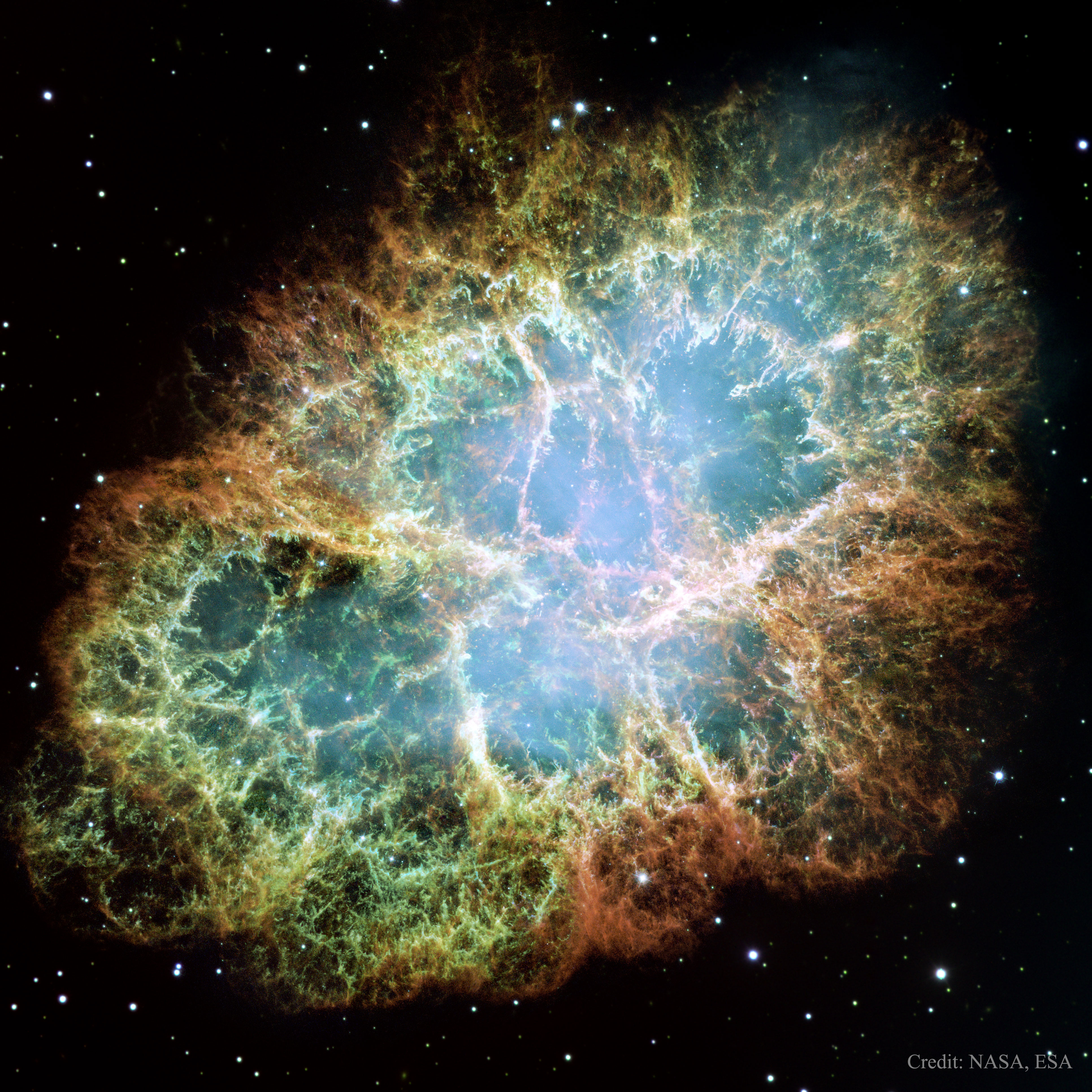 APOD: 2015 August 16 - M1: The Crab Nebula from Hubble