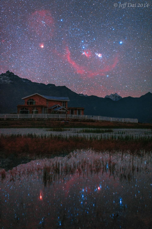 Orion nad a pod Tibetem