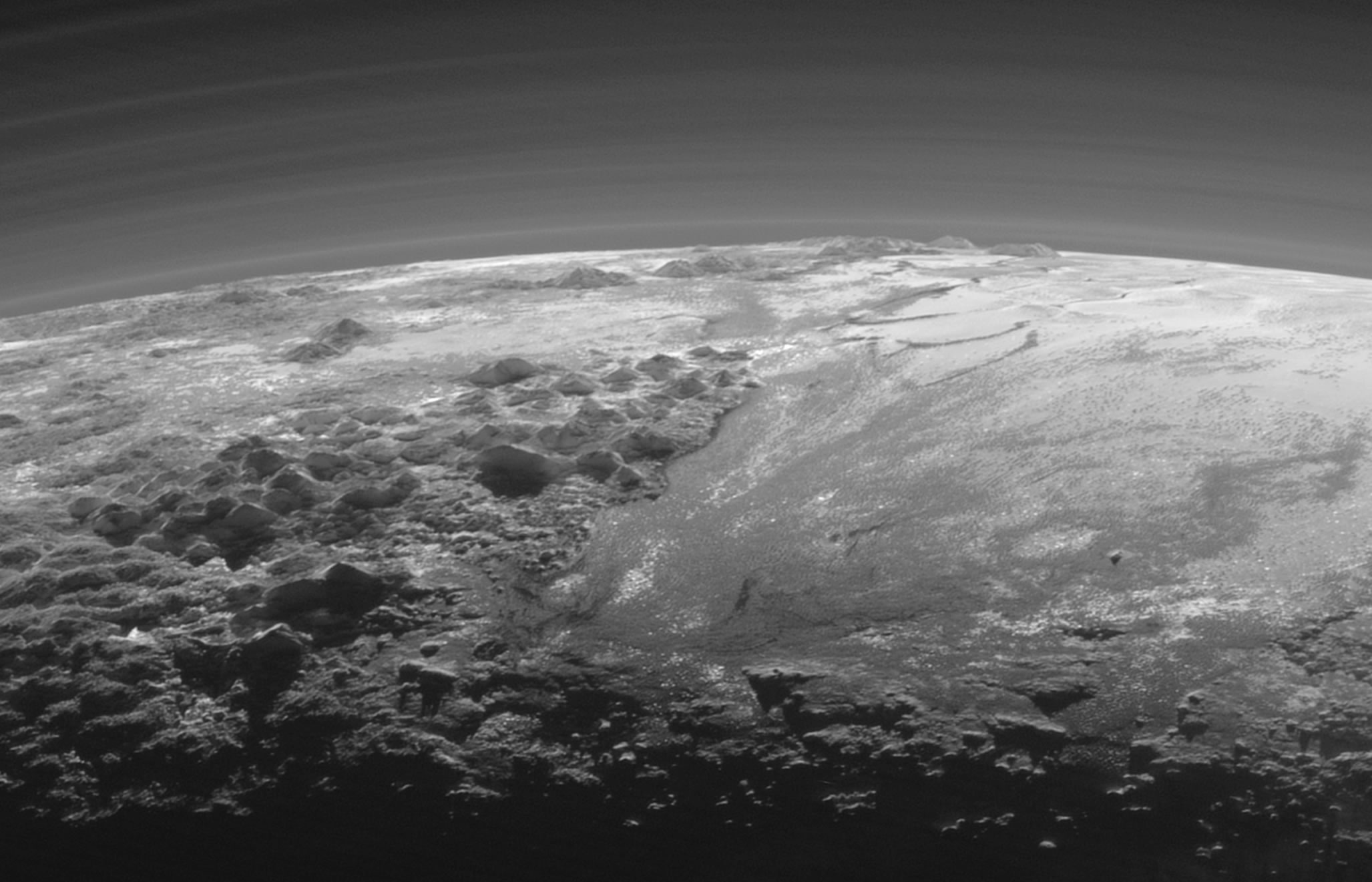 Mountains on Pluto