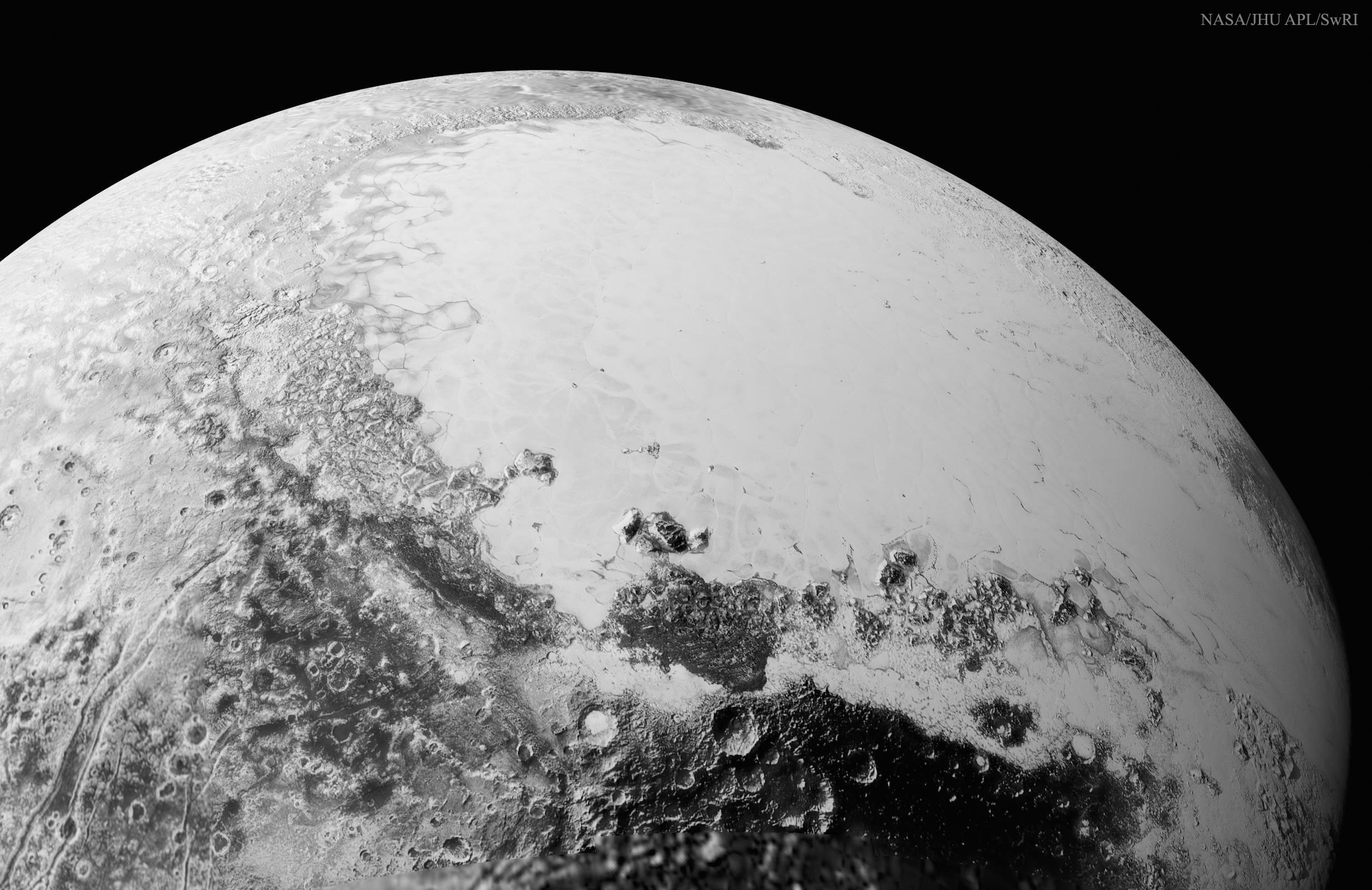 2015 September 14 - Pluto from above Cthulhu Regio