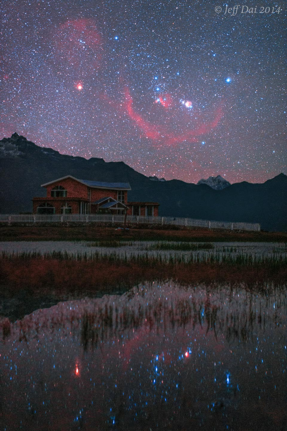 This night was so serene you could see Orion rise downwards.