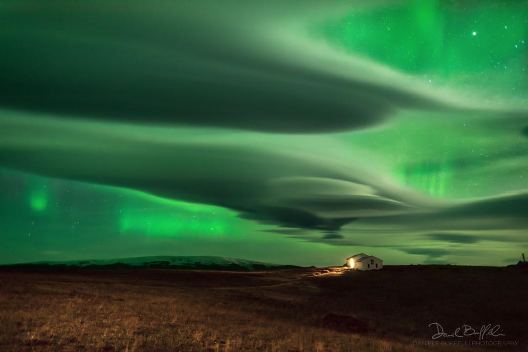 Auroras por encima de las nubes
