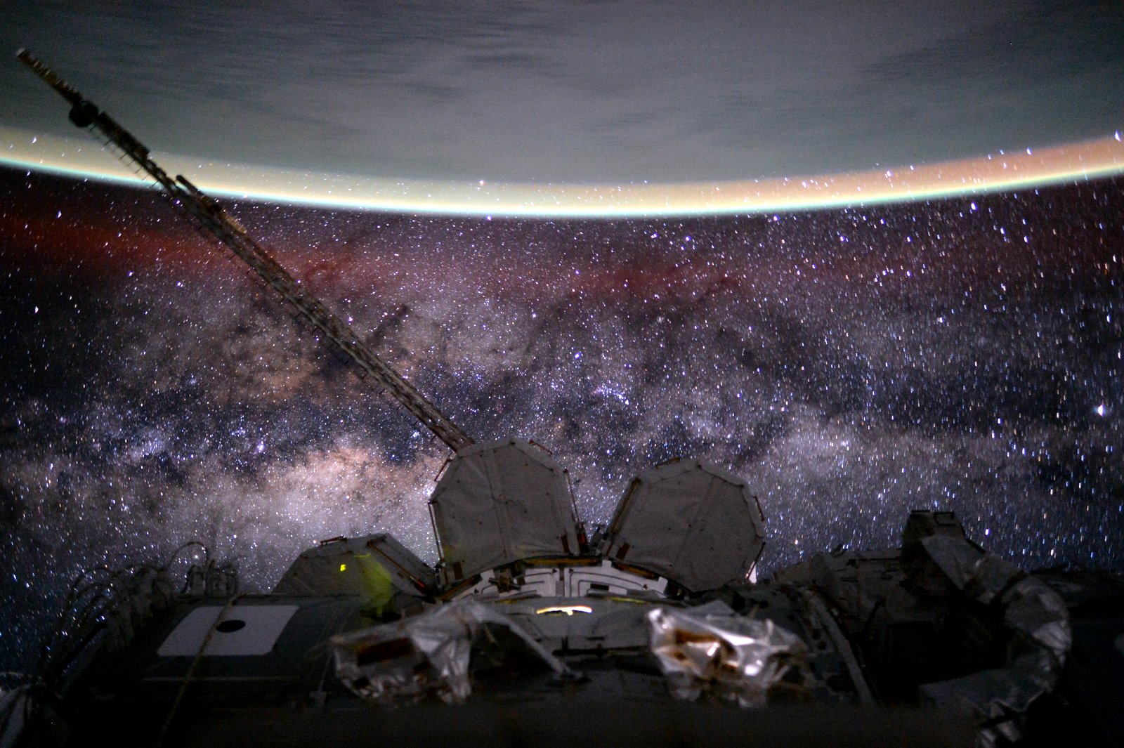 2015 November 7 - Earth and Milky Way from Space