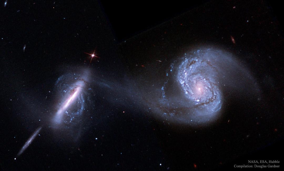Arp 87: una fusión de galaxias desde el Hubble