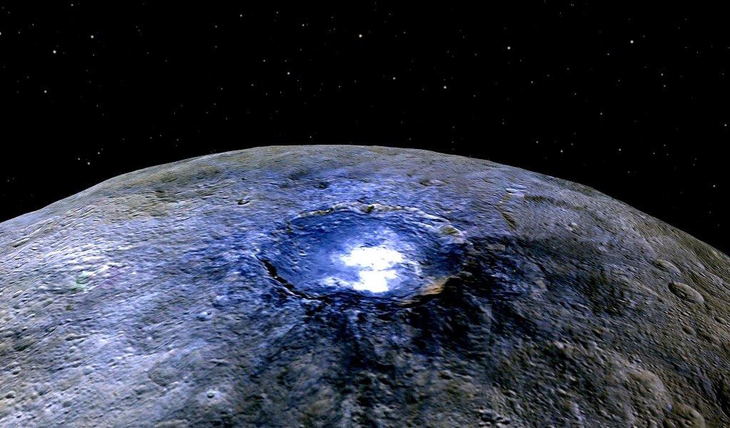 Nejjasnější skvrna na Ceres