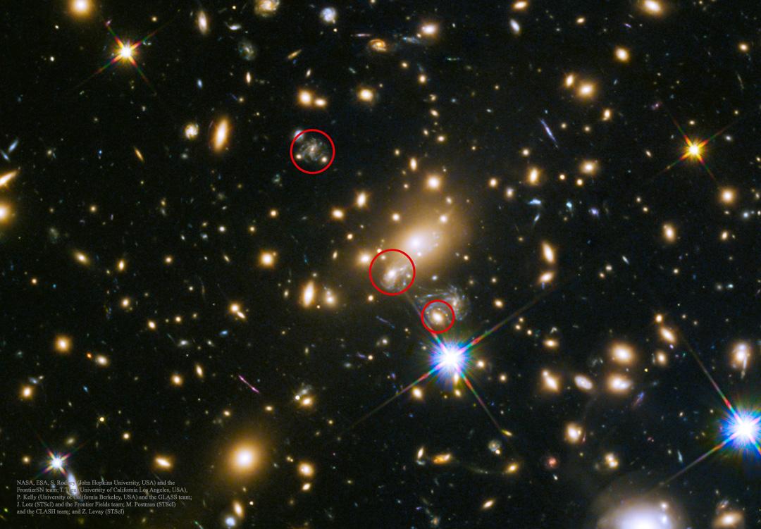 SN Refsdal: la imagen de la primera supernova predicha