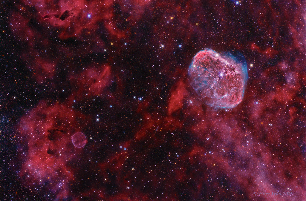 Cygnus: Burbuja y Creciente
