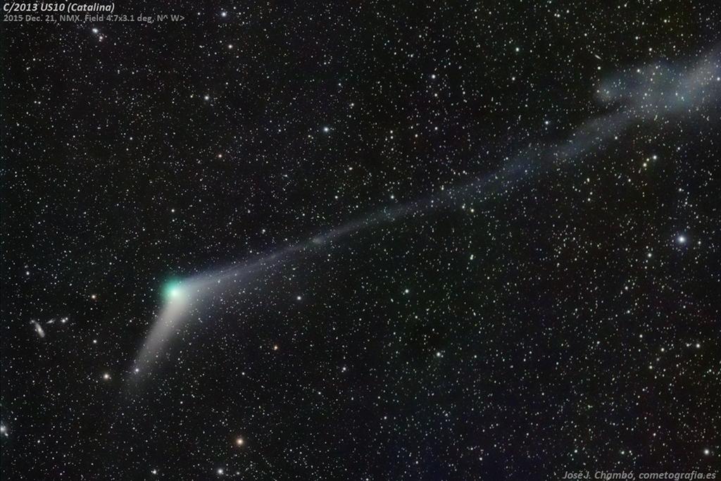 Las colas del cometa Catalina