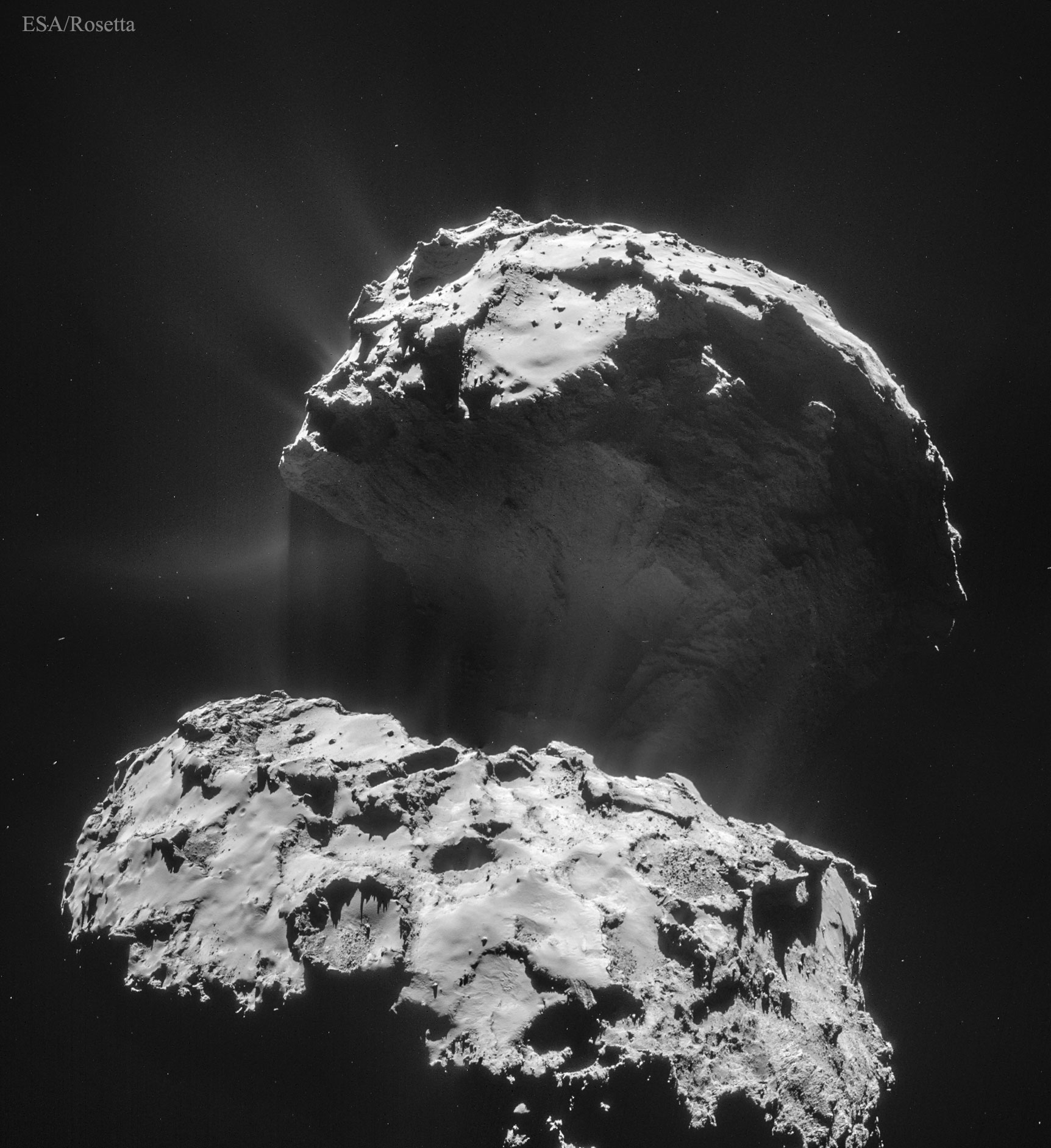 Comet 67P as seen from spacecraft Rosetta [APOD ...