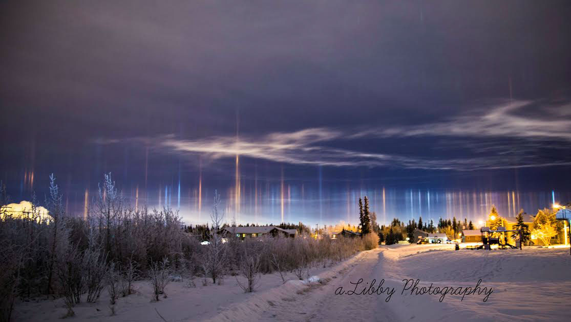 2016 February 8 - Light Pillars over Alaska