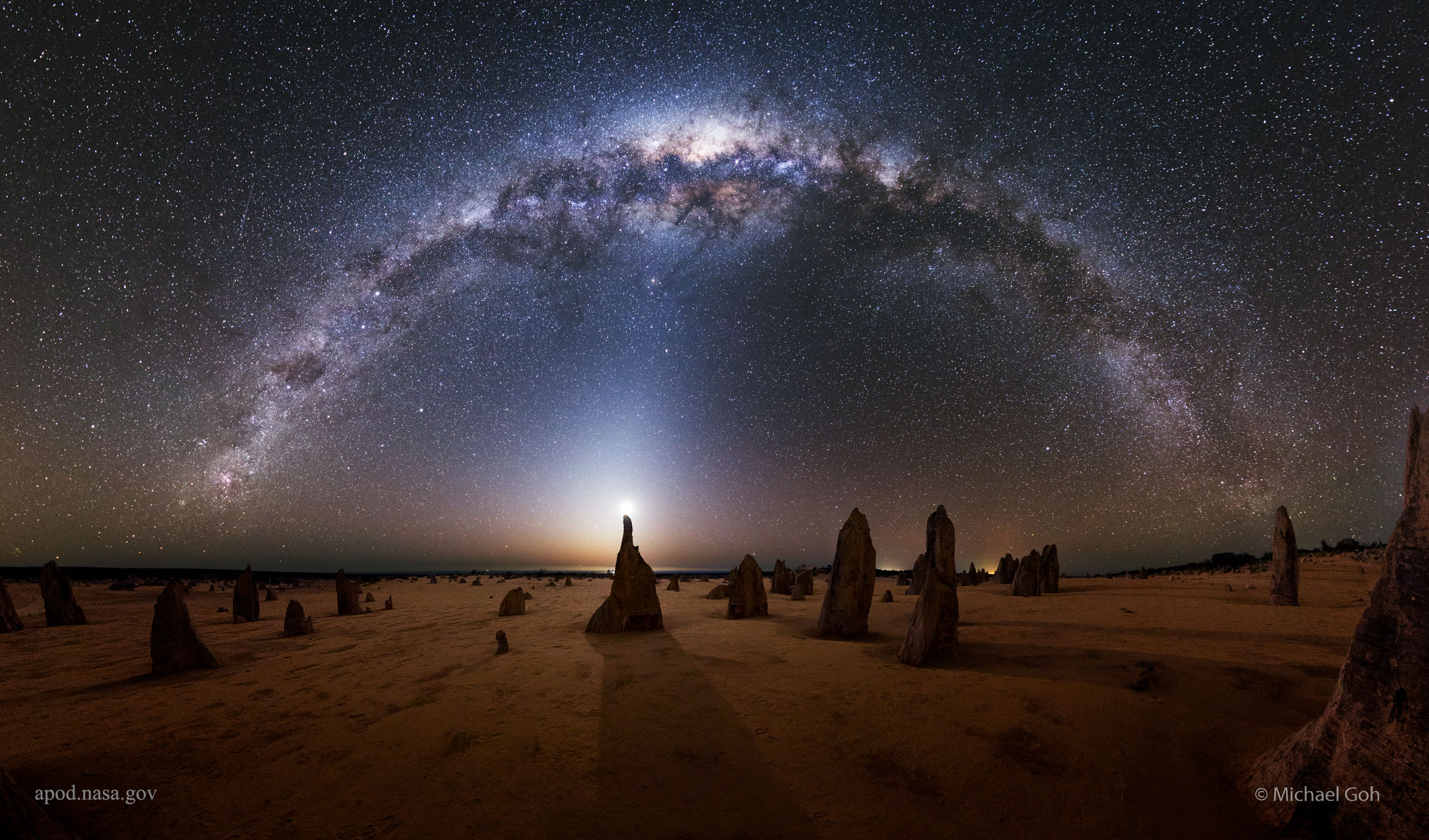 2016 February 17 - Milky Way over the Pinnacles in Australia