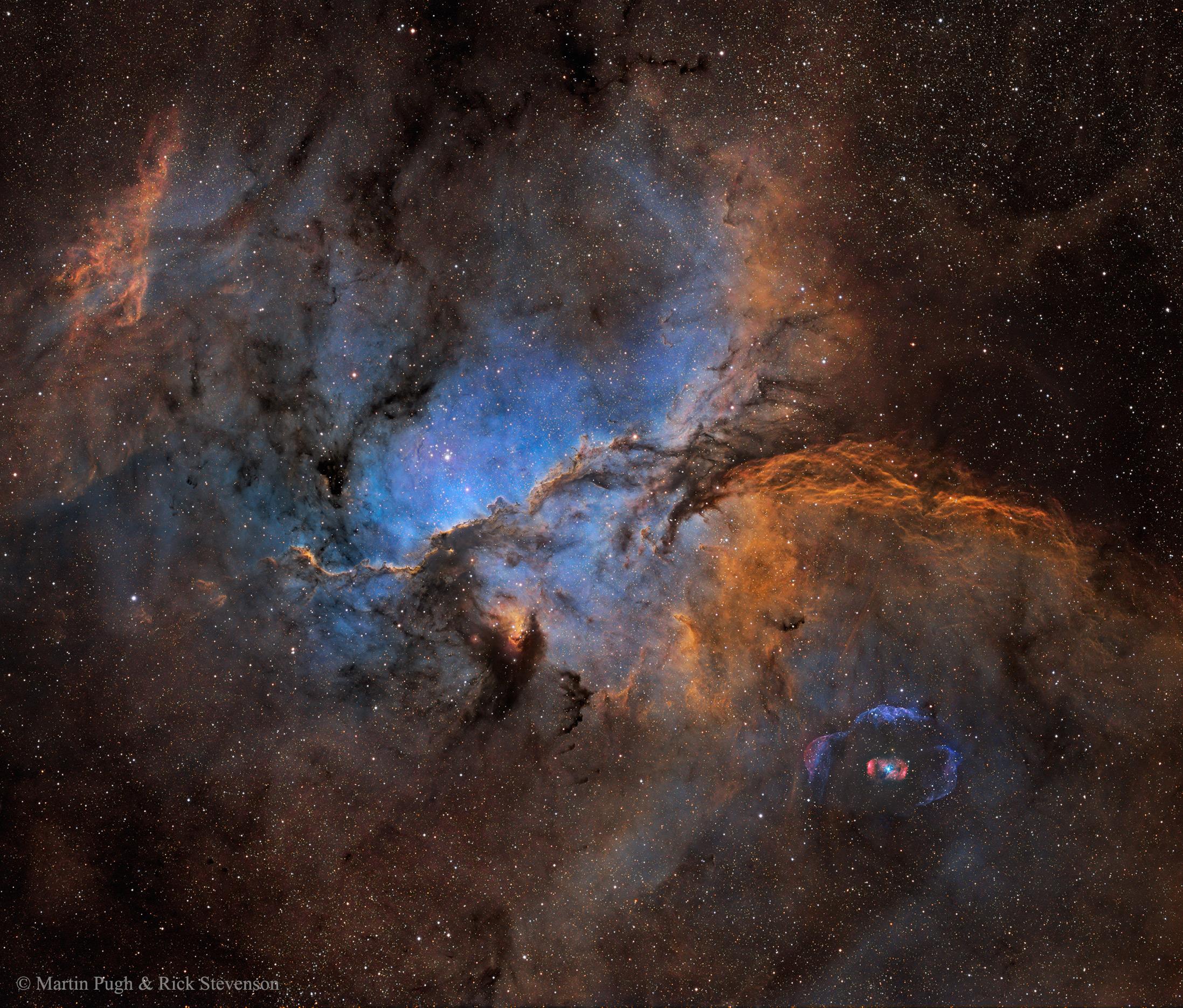 APOD: 2016 March 30 - NGC 6188 and NGC 6164
