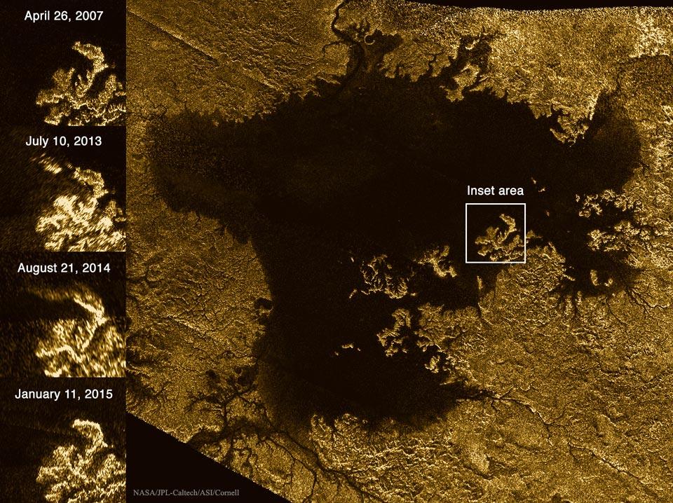 Algo misterioso de Titán que desaparece