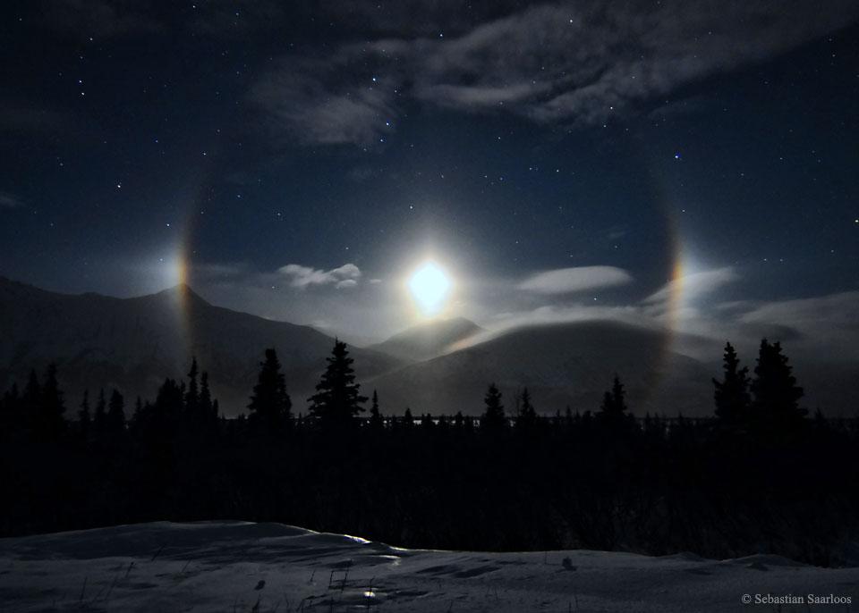 Paraselenes en Alaska