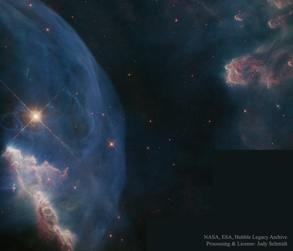 016 - APRIL - 2016. BubbleNebula_HubbleSchmidt_960