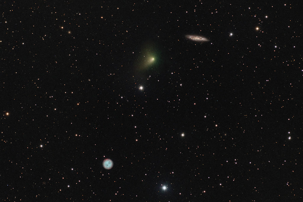 El cometa, la lechuza y la galaxia