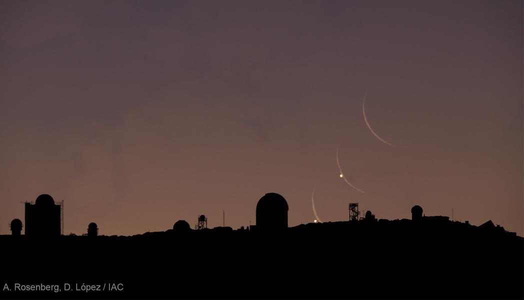 Venus en fase llena y Luna creciente