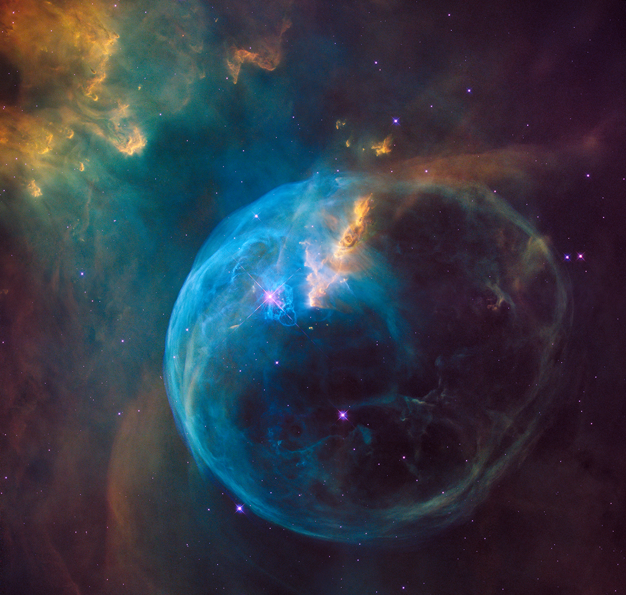 Apod 2016 april 22 ngc 7635 the bubble nebula clicking on the picture will download the highest resolution version available altavistaventures Images
