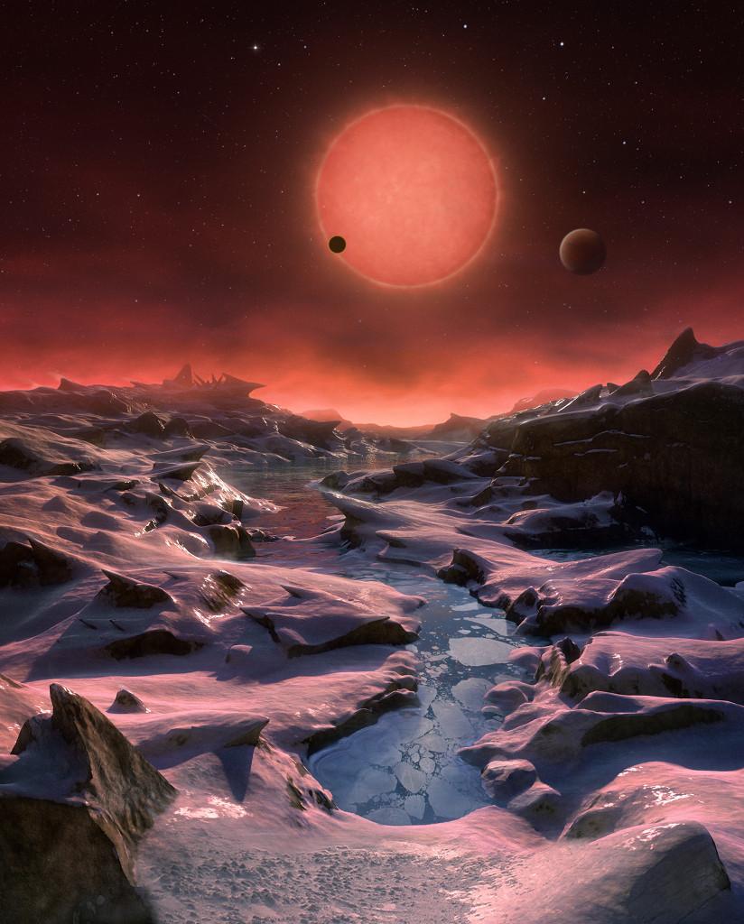 Los tres mundos de TRAPPIST 1