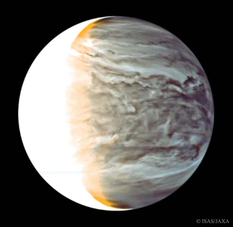 Noche de Venus en infrarrojo desde el Akatsuki