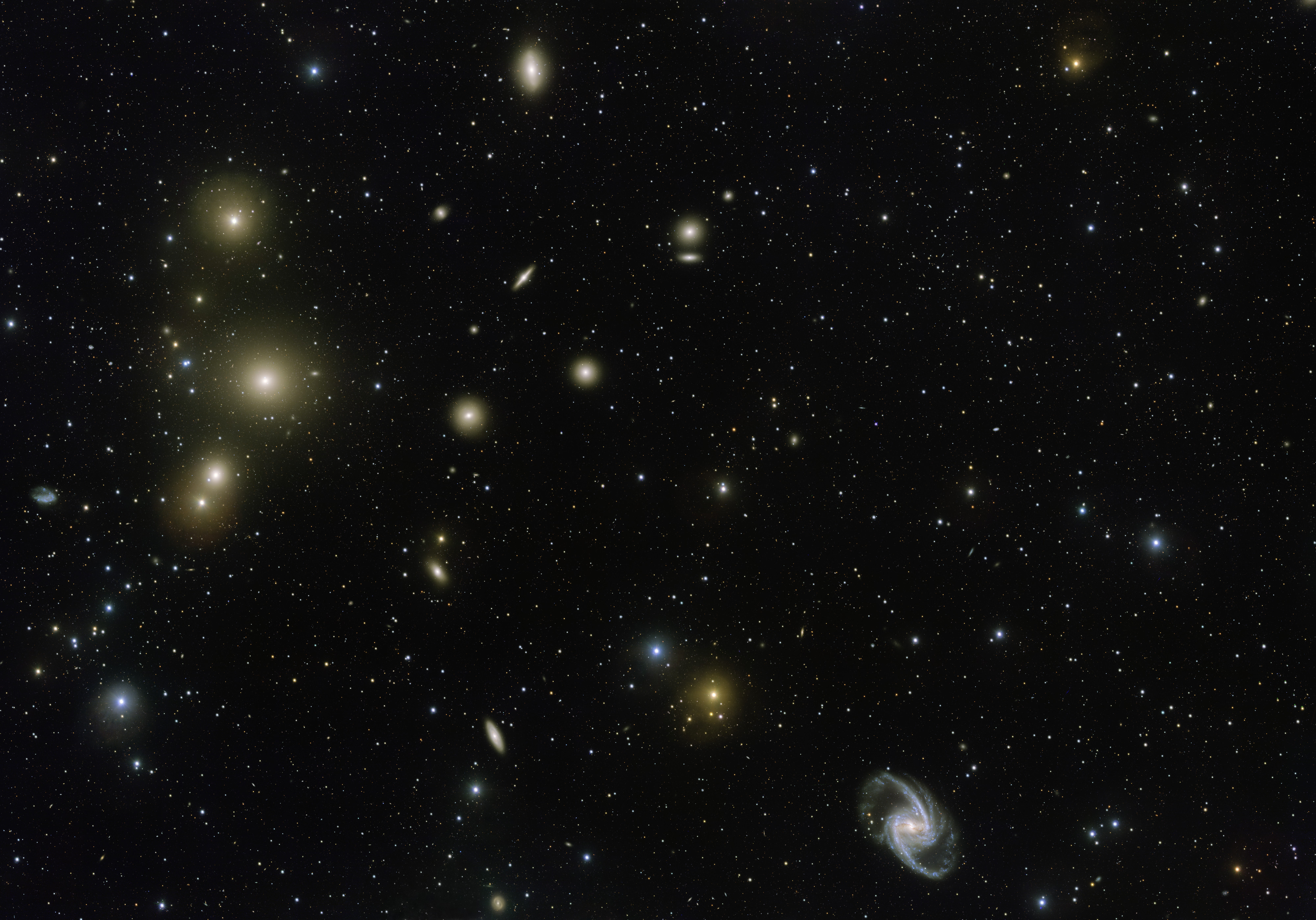 APOD: 2016 June 11 - The Fornax Cluster of Galaxies