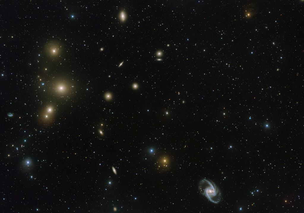 El cúmulo galáctico del Horno