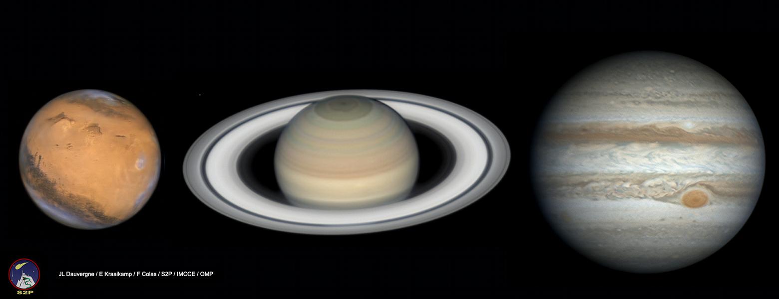 Tres planetas desde el Pic du Midi