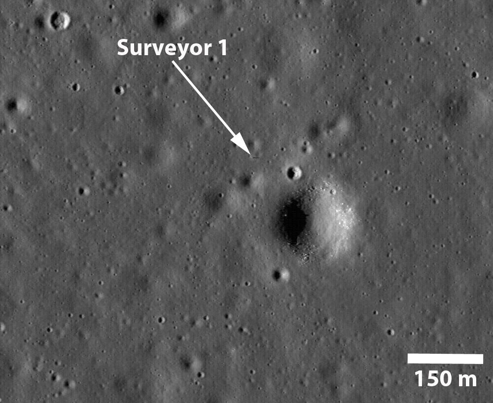 La sombra de la Surveyor 1